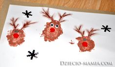 reindeer, christmas, paint, dziecio-mamia.com