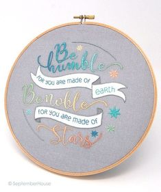 Paper Embroidery Modern Embroidery Kit, Made of Stars Quotation hand embroidery panel pre-printed fabric for hand emb - Paper Embroidery, Learn Embroidery, Modern Embroidery, Embroidery For Beginners, Hand Embroidery Patterns, Vintage Embroidery, Embroidery Techniques, Embroidery Kits, Embroidery Stitches