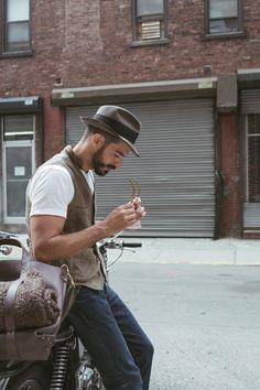 | Raddest Looks On The Internet www.raddestlooks.net. men's fashion and style.  in favor of a hat. vest love