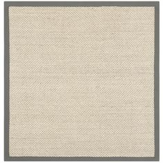 Safavieh Hand-woven Resorts Natural/ Grey Fine Sisal Rug (4' Square) - Overstock™ Shopping - Great Deals on Safavieh Round/Oval/Square