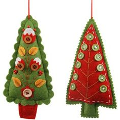 felt embellished Christmas trees. Darling! Eglītes mantiņas - Cool Craft Hunting - draugiem.lv