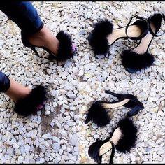 Fur heels Furry heels/sandals. Place your order ladies! None Shoes Heels