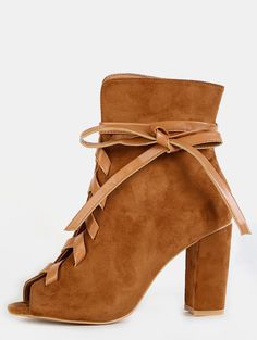 The Leather Lace Ankle Booties are the perfect transition into fall! Features a…