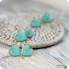 Mint Green Heart earrings - Get'em!