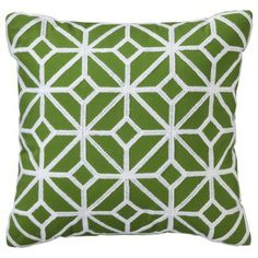 Threshold™ Latticed Diamond Decorative Pillow - Green