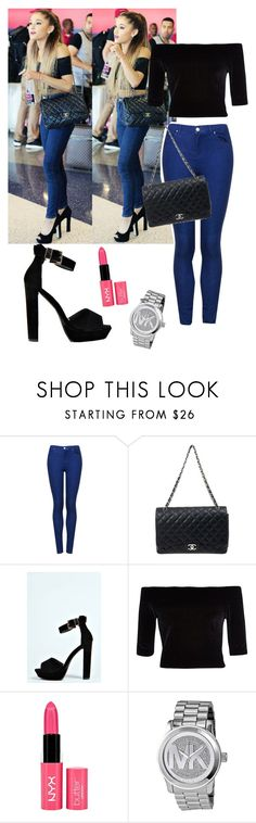 """""""Ariana Grande"""" by samantha-kidd ❤ liked on Polyvore featuring Topshop, Chanel, Boohoo, River Island and Michael Kors"""