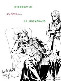 Lazy Thranduil and Legolas - kagalin的微博_微博