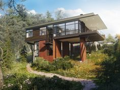 CGarchitect - Professional 3D Architectural Visualization User Community | Hill Villa In US