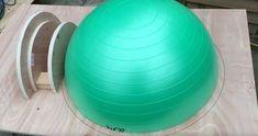 Mit einem Gymnastikball Pizzaofen selber bauen ? So geht es !