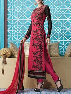 Check out what I found on the LimeRoad Shopping App! You'll love the pink georgette straight semistitched suit. See it here http://www.limeroad.com/products/11856922?utm_source=43435a41c4&utm_medium=android