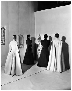 Charles James coats, photographed by Cecil Beaton