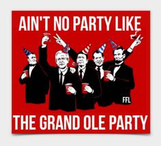 Ain't No Party Like The Grand Ole Party Sticker