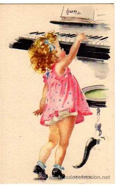TOO cute........for a piano birthday card