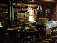 I imagine Achie's black smith shop looked like this with his passion for making tools