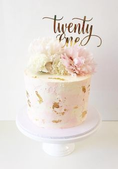Twenty One Swirl Cake Topper - Cake - kuchen kindergeburtstag 30th Birthday Cake For Women, 21st Birthday Cake Toppers, 21st Birthday Cakes, 40th Birthday Cakes, Happy Birthday, Birthday Celebration, 21 Birthday, Celebration Cakes, 21 Cake Topper