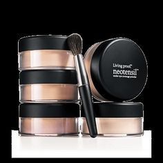 #LivingProof  #Neotensil Under-Eye Coverage Powder SPF 15 and Brush is specially designed and available in five different shades for those who experience discoloration or dark circles.