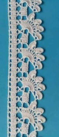 Crochet Boarders, Crochet Edging Patterns, Filet Crochet Charts, Crochet Lace Edging, Crochet Circles, Crochet Stitches, Knitting Patterns, Knit Crochet, Thread Work