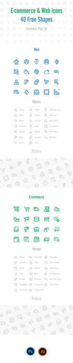 40 Free Icons (Psd, Ai) on Behance