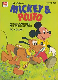 Walt Disneys Mickey Pluto An Ideal Watchdog And Other Silly Puns To Color