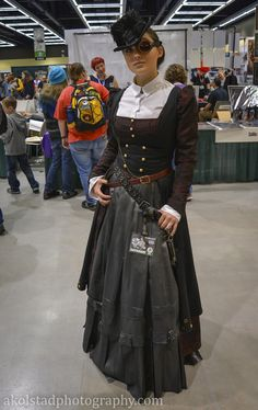 A very cool, very classy, yet still modest Steampunk outfit. I am liking it a lot.
