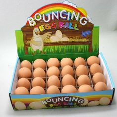 Chicken egg childrens easter gifts pinterest products grow 6 x bouncy egg rubber ball toypost httpamazon negle Gallery