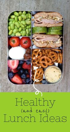 Need some ideas for healthy lunches? Look no further! Tons of healthy, easy, and quick lunch ideas with photos. #lunchingawesome by Sharon Lowe