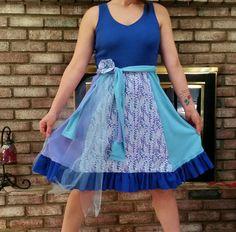 Bohemian Dress, Gypsy Dress, Hippie Dress, Easter Dress, Repurposed Dress, UPcycled Dress, Shabby Chic, Ready to Ship
