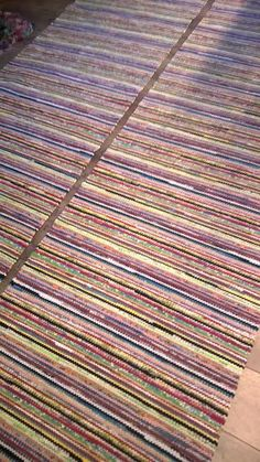 HIENOT MUSTARAIDAT 2kpl 85 x 3.20m Loom Love, Kitchen Rug, Tear, Recycled Fabric, Live Long, Rug Making, Woven Rug, Knit Patterns, Handicraft