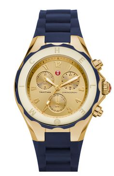 MICHELE 'Tahitian Jelly Bean' 40mm Gold Watch available at Nordstrom