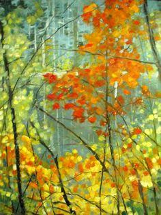Por amor al arte: Olivia Pendergast Watercolor Landscape, Abstract Landscape, Landscape Paintings, Nature Paintings, Illustrations, Illustration Art, Andrew Wyeth, Autumn Painting, Tree Art