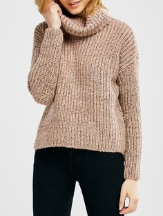 | Black Friday Sale: $18 off $100+ Using Code ZFCODE2016 | Turtle Neck Heathered Sweater PINK: Sweaters | ZAFUL