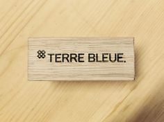 lasercut wood oak POS bar engraving Terre Bleue