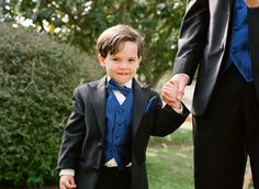 Seriously cute ring bearer.
