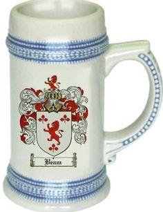 Beam Coat of Arms / Family Crest tankard stein mug