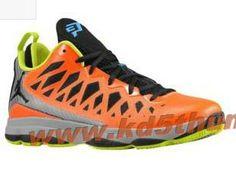 Mens Air Jordan CP3 VI Chris Paul Nitro QS Total Orange lime Green CP3 Shoes 2013