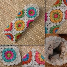 Uses crochet et du fil Holst Garn [whatever size cord that is. look it up] or experiment with US thread and needle sizes, using diagram to estimate appropriate size squares. Crochet Diy, Crochet Kawaii, Crochet Case, Crochet Purses, Love Crochet, Crochet Gifts, Crochet Flower Patterns, Crochet Stitches Patterns, Crochet Designs
