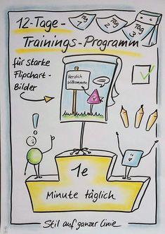 """Freebie zum Download, """"12-Tage-Trainingsprogramm für starke Flipchartbilder"""", Flipchart, Flipchartgestaltung, Flipchartseminar, Flipchart-Workshop, Visualisierung, visualisieren, Visualisierungs-Tipps, visuelle Notizen, visual notes, Präsentation, Flipcha"""