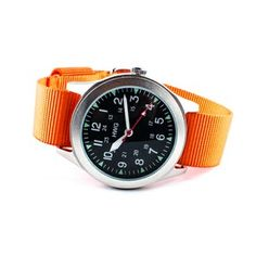 hwg black dial w/ orange strap