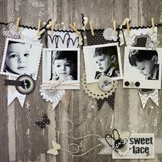 Sweet Face scrapbook layout by ScrapGoo Kids Scrapbook, Wedding Scrapbook, Scrapbook Paper Crafts, Scrapbook Cards, Scrapbook Photos, Scrapbook Sketches, Scrapbook Page Layouts, Digital Scrapbooking Layouts, Exposition Photo