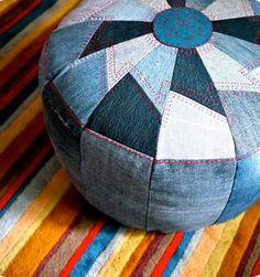 Ideia puf (usar tecido veludo amarelo e vermelho)