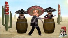 Yes, that is me and my Mexican pistoleros dancing to the tune of José Feliciano