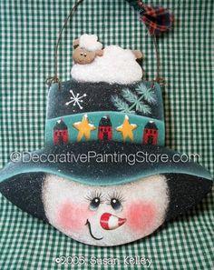 Saltbox Sam and Lamb ePacket - Susan Kelley - PDF DOWNLOAD #PaintingEPattern #paintingpattern #snowmansign #snowmanornament