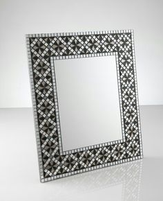 Classic pattern. Part of the Black rose series. Mosaic mirror. By Mirror Envy.