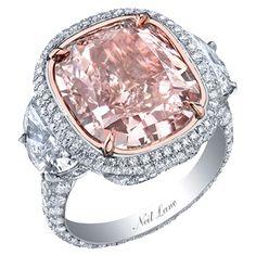 Neil Lane Natural Pink Diamond cushion cut engagement ring