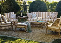 This summer, create a comfortable elegant entertaining area in your backyard with the Athens Seating collection.