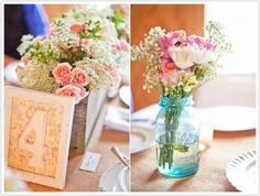 Mason jar centerpieces to match mason jar seating chart?