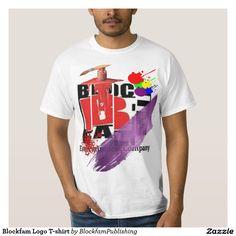 Hip Hop Urban Style Mens Cotton Blockfam Entertainment Colorful Logo Paint T-Shirt. (New) (Fashion)