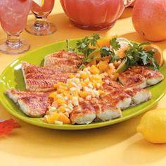 Cajun Catfish with Fruit Salsa Recipe Taste of Home