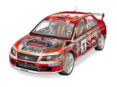 Mitsubishi Lancer Evolution VII WRC '2001–03