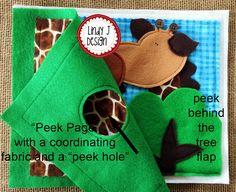 Peek-A Zoo Felt QUIET Peek-A BOOk .PDF PATTERN por LindyJDesign